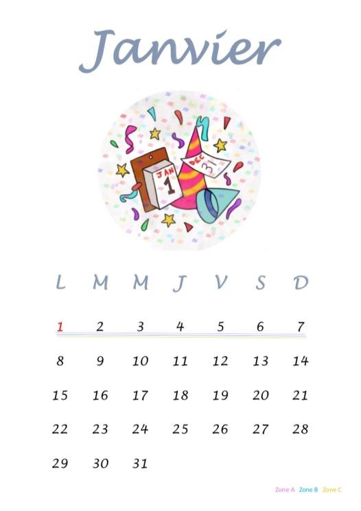 janvier 18 vacances